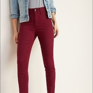 Old Navy wine maroon color jeans